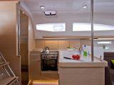 Split Sailing – DIV – ELAN 40 saloon kitchen