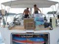 split sailing net – Aquarius Mljet mooring 4