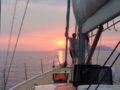 split sailing net – Aquarius Mljet sunset 5